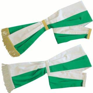 Schärpe Baumwolle, grün/weiß
