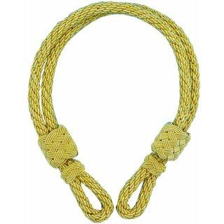 Mützenkordel, ziehbar, gedreht, einfarbig gold