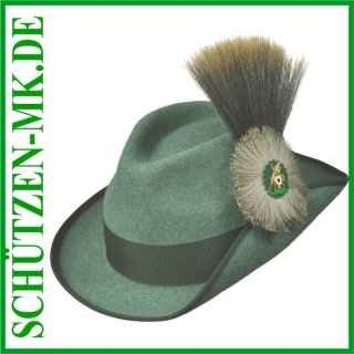Schützenhut hellgrün meliert, m. Druckknopf