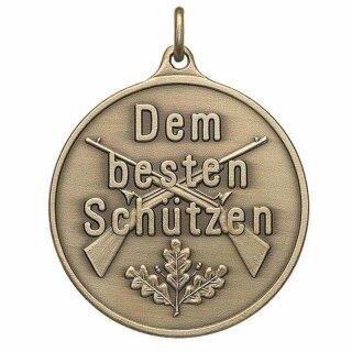 """Medaille A44.2, Dem besten Schützen"""", mit Öse und Ring"""""""