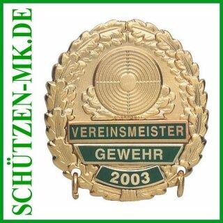 Vereinsmeisterabzeichen A 48.1, mit Sicherheitsnadel