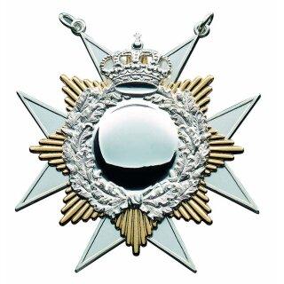 Orden 21048, versilbert, Sternauflage vergoldet