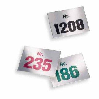 Aufklebenummern, Bereich 1-1000, Block mit 100 Nummern