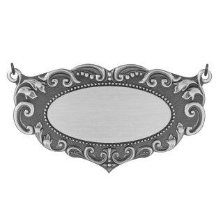 Schild 62215, mit 2 Ösen und 2 Ringen