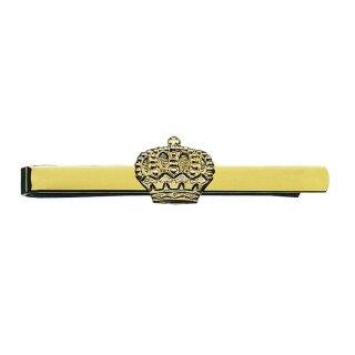 Krawattenschieber 54842, vergoldet, mit Krone