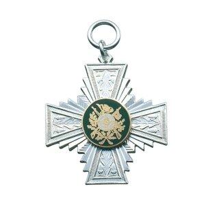 Orden 15443, versilbert, mit Öse und Ring