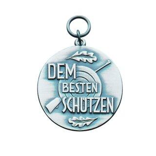 """Medaille 21736, """"Dem besten Schützen"""", mit Öse und Ring, Ø 39 mm"""