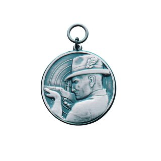 Medaille 14229, mit Öse und Ring, Ø 39 mm