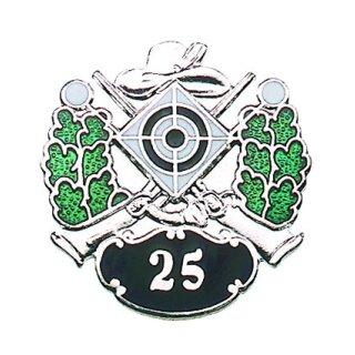 Abzeichen 84533, versilbert, mit Sicherheitsnadel, Jubiläum 25