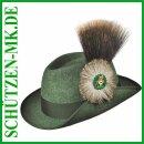 Schützenhut dunkelgrün, m. Druckknopf