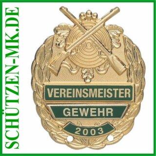 Vereinsmeisterabzeichen A 48.2, mit Sicherheitsnadel
