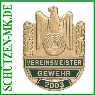 Vereinsmeisterabzeichen A 48.5, mit Sicherheitsnadel
