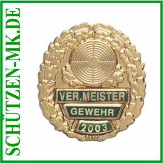Vereinsmeisterabzeichen A 48.9, mit Sicherheitsnadel