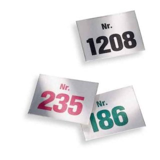 Aufklebenummern, Bereich 1001-2000, Block mit 500 Nummern