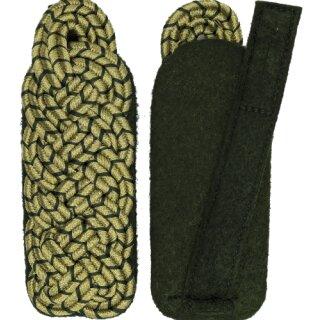 Schultergeflecht, Majorsgeflecht, Soutache gold, mit schützengrün national, Filz grün