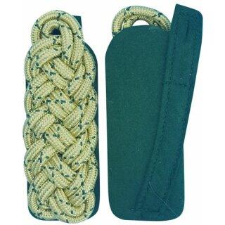 Schultergeflecht, Majorsgeflecht, Rundschnur gold mit schützengrün national