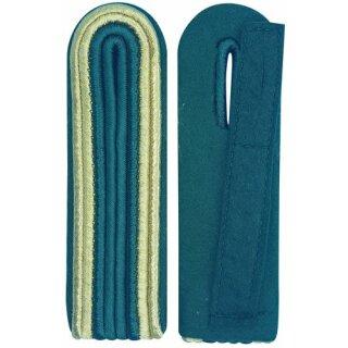 Schulterstück, 4-streifig, Innensoutache schützengrün Außen gold
