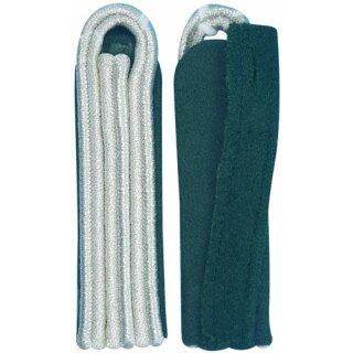 Schulterstück, 3-streifig, silber auf Filz grün