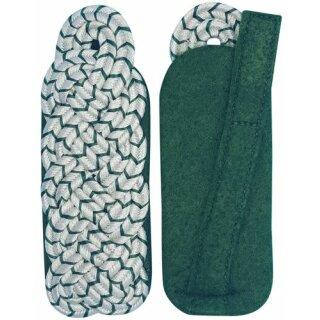 Schultergeflecht, Majorsgeflecht, Soutache silber, mit schützengrün national, Filz grün