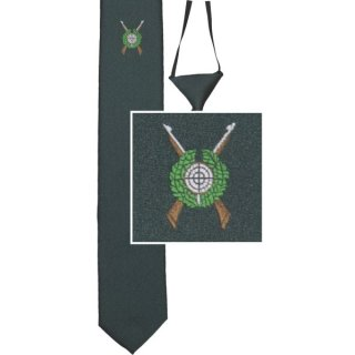 Schützenkrawatte, gewebtes Motiv, Eisfond, mit Gummiband