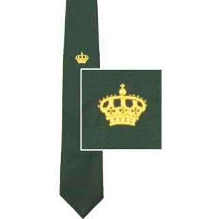Schützenkrawatte, gesticktes Motiv Krone, Königskrawatte